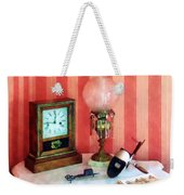 Stereopticon Lamp And Clock Weekender Tote Bag