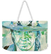 Stevie Ray Vaughan- Watercolor Portrait Weekender Tote Bag