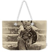 Sticky Boot Antique Sepia Weekender Tote Bag