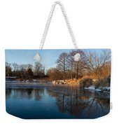 Still And Early - Icy Reflections With A Touch Of Snow Weekender Tote Bag