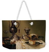 Still Life, 1642 Oil On Canvas Weekender Tote Bag