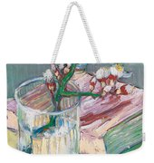 Still Life    A Flowering Almond Branch Weekender Tote Bag by Vincent Van Gogh