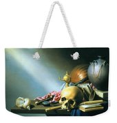 Still Life An Allegory Of The Vanities Of Human Life Weekender Tote Bag