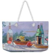 Still Life And Seashore Bandol Weekender Tote Bag by Sarah Butterfield