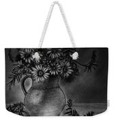 Still Life Clay Pitcher With 13 Daisies Weekender Tote Bag
