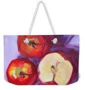 Still Life Kitchen Apple Painting Weekender Tote Bag