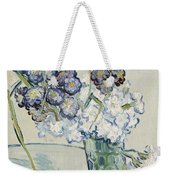 Still Life Vase Of Carnations Weekender Tote Bag