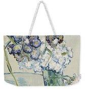 Still Life Vase Of Carnations Weekender Tote Bag by Vincent van Gogh