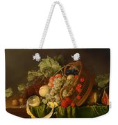 Still Life With A Basket Of Fruit Weekender Tote Bag