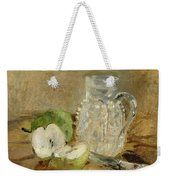 Still Life With A Cut Apple And A Pitcher Weekender Tote Bag