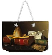 Still Life With A Writing Table Weekender Tote Bag