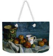 Still Life With Apples Cup And Pitcher Weekender Tote Bag by Paul Cezanne