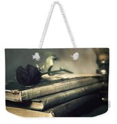 Still Life With Books And Roses Weekender Tote Bag