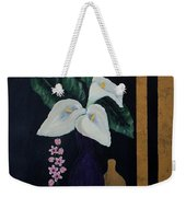 Still Life With Calla Lilies Weekender Tote Bag