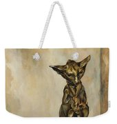 Still Life With Cat Sculpture Weekender Tote Bag
