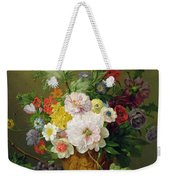 Still Life With Flowers And Fruit Weekender Tote Bag by Anthony Obermann
