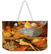 Still Life With Fruit And Macaws, 1622 Weekender Tote Bag