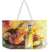 Still Life With Fruits And Flowers And Bottle Weekender Tote Bag