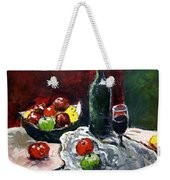 Still Life With Fruits And Wine Weekender Tote Bag