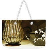 Still Life With Golden Vase Weekender Tote Bag