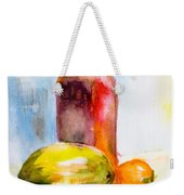 Still Life With Jug And Fruit Weekender Tote Bag