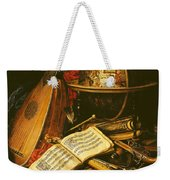 Still Life With Musical Instruments Oil On Canvas Weekender Tote Bag