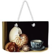 Still Life With Nautilus Weekender Tote Bag