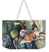 Still Life With Pitcher And Aubergines Oil On Canvas Weekender Tote Bag