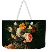 Still Life With Poppies And Roses Weekender Tote Bag