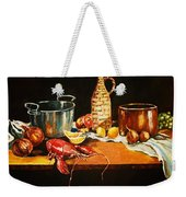 Still Life With Pots Fruit Etc. Weekender Tote Bag