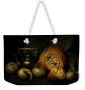 Still Life With Pumpkin And Onions Weekender Tote Bag