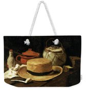 Still Life With Straw Hat Weekender Tote Bag