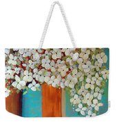 Still Life With White Flowers Weekender Tote Bag