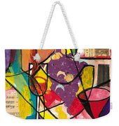 Still Life With Wine And Fruit B Weekender Tote Bag by Everett Spruill
