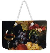 Still Life With Wine Glass And Silver Tazz Weekender Tote Bag by Edward Ladell
