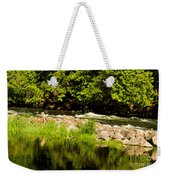 Still Pool And Fast River Weekender Tote Bag