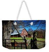 Still Useful Rustic Red Barn Art Oconee County Weekender Tote Bag