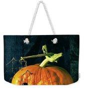 Stingy Jack - Scary Halloween Pumpkin Weekender Tote Bag by Edward Fielding