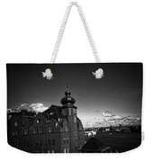 Stockholm In Dark Black And White Weekender Tote Bag