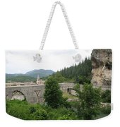 Stone Arch Bridge Over River Verdon Weekender Tote Bag