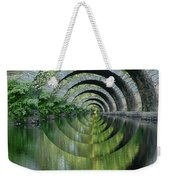 Stone Arch Bridge Over Troubled Waters - 1st Place Winner Faa Optical Illusions 2-26-2012 Weekender Tote Bag
