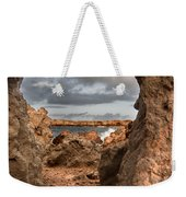 A Natural Stone Arch In North Coast Of Minorca Appears Like A Pass To One Thousand And One Night  Weekender Tote Bag