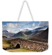 Stone Bridge In Mountain Landscape Weekender Tote Bag