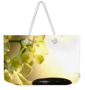 Stone Cairn And Orchids Weekender Tote Bag by Olivier Le Queinec