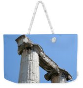 Stone Carved Columns At The Temple Of Aphrodite  Weekender Tote Bag