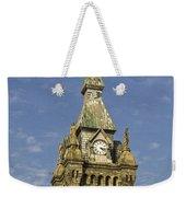 Stone Clock Tower Weekender Tote Bag