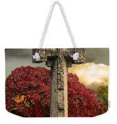 Stone Cross In Fall Garden Weekender Tote Bag