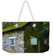 Stone House With Mossy Roof Weekender Tote Bag