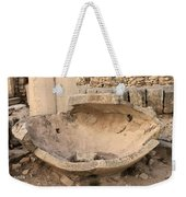 Stone Jar At Temple Of Apollo Weekender Tote Bag