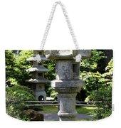Stone Pagoda And Lantern Weekender Tote Bag
